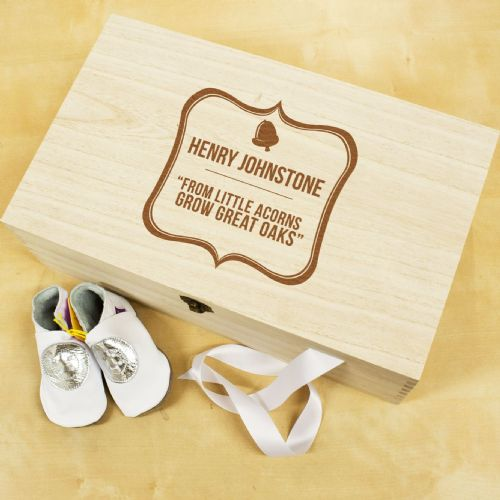 Baby Acorn Sentiment Keepsake Box